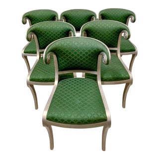 Set of 8 Casa Stradivari Neo-Classical Klismos Dining Chairs For Sale