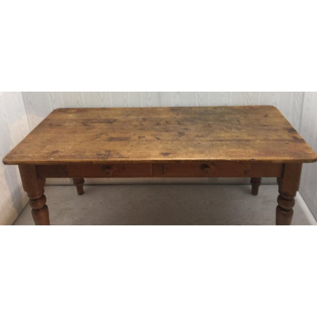 Farm Table With Drawers - Image 5 of 8