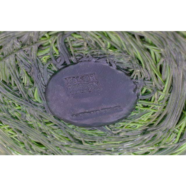 Gaetano Pesce Gaetano Pesce Green Resin Spaghetti Bowl for Fish Design For Sale - Image 4 of 7