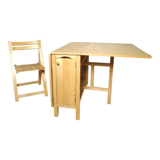 Mid-Century Modern Drop Leaf Table For Sale