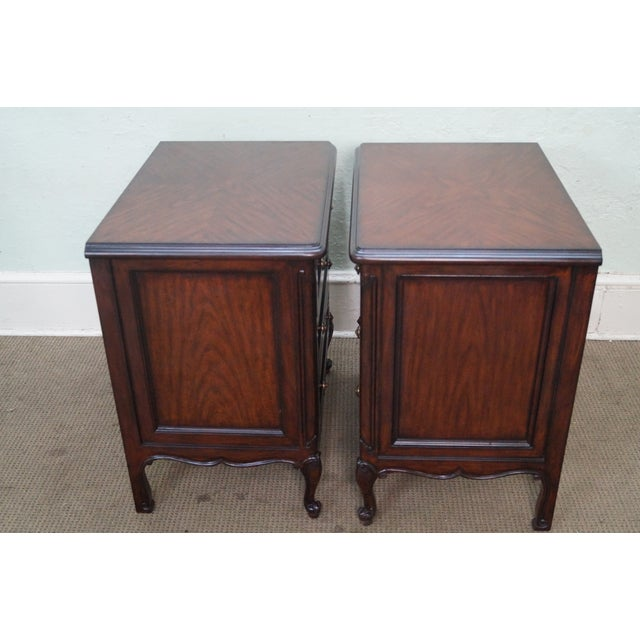 French Louis XV Style Mahogany Nightstands - A Pair - Image 5 of 8