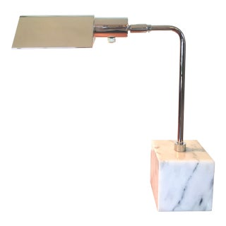 Marble Chrome Desk Lamp by Koch Lowy For Sale