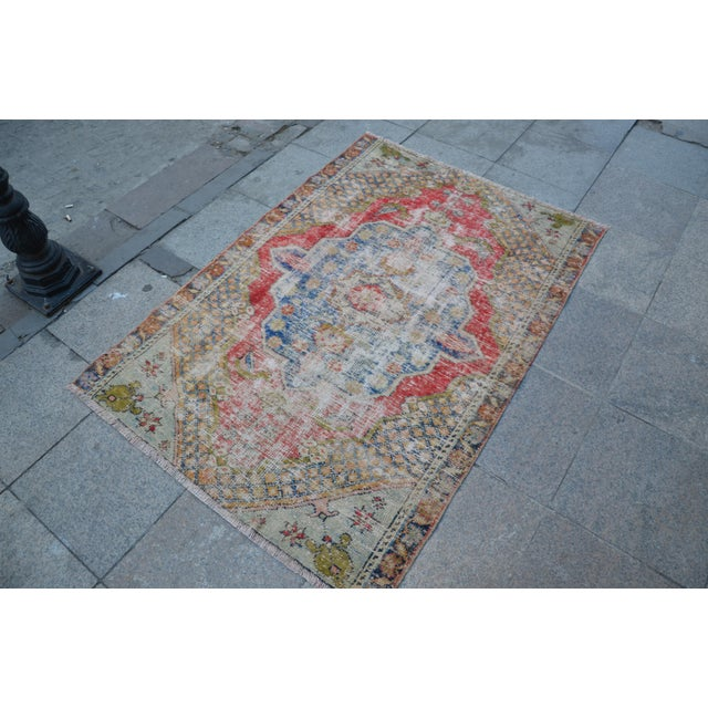 "Handmade Anatolian Tribal Rug -- 3'9"" x 5'3"" - Image 3 of 6"