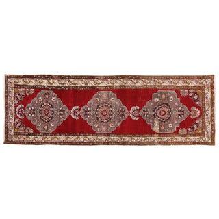 """Vintage Turkish Oushak Carpet Runner - 3'7"""" x 10'9"""""""