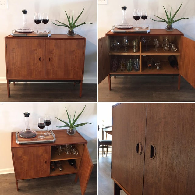 Danish Modern Media/ Bar Cabinet - Image 4 of 10