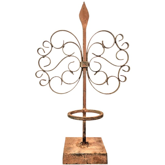 Gothic Wrought Iron Candle Holder - Image 1 of 7
