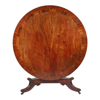 William IV Mahogany Round Dining Table