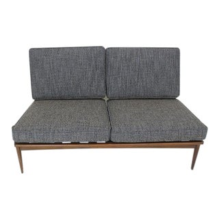Ib Kofod Larsen for Selig Armless Settee For Sale