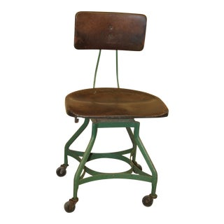 1950s Vintage Toledo Metal Furniture Co Industrial Chair For Sale