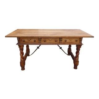 Vintage Teak Wood Spanish Style Table