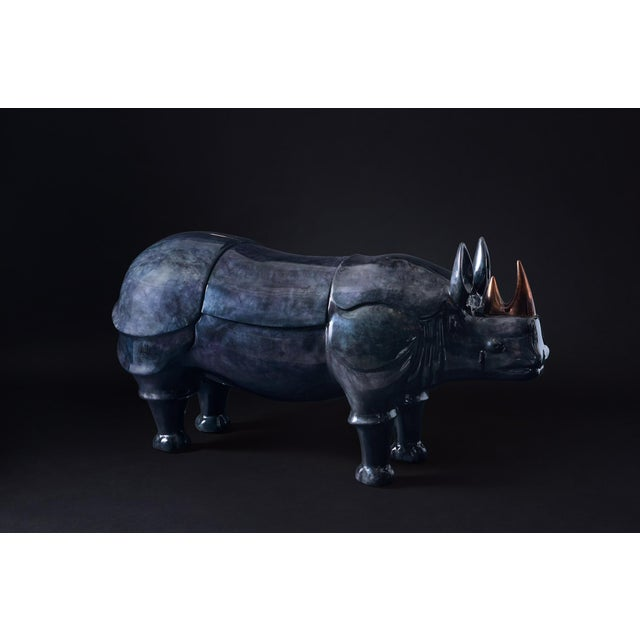 Contemporary Rhinoceros Dry Bar For Sale - Image 3 of 9