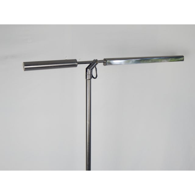 Brushed Chrome Fluorescent Floor Lamp For Sale - Image 10 of 11