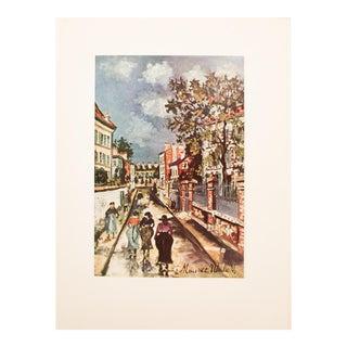 1950s Maurice Utrillo, Parisian Street Scene Lithograph For Sale