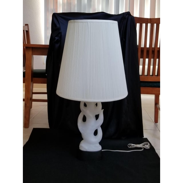 Mid-Century Modern Carved Italian Alabaster Table Lamp - Image 2 of 11