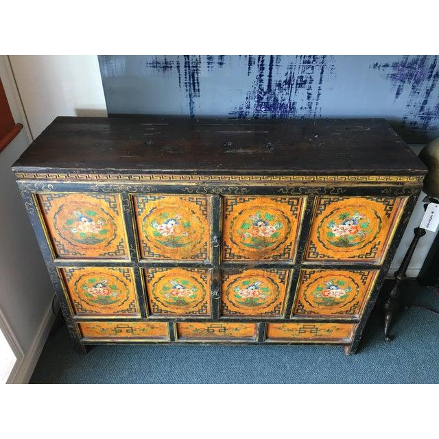 Tibetan Handpainted Cabinet - Image 3 of 11