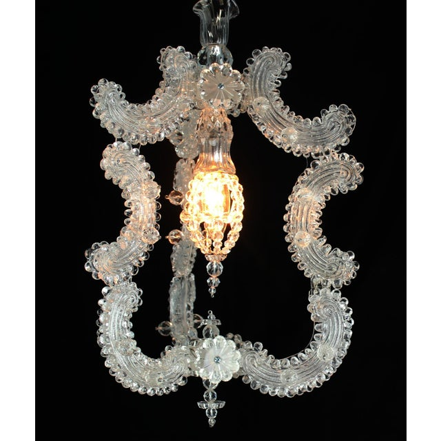 Venetian Glass Pendant Lantern For Sale - Image 9 of 9