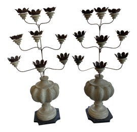 Image of White Candle Holders