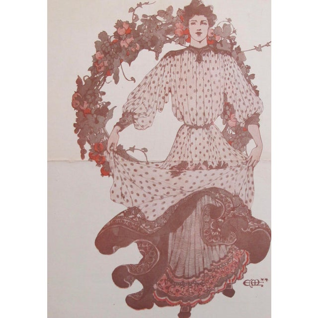 Art Nouveau 1903 American Art Nouveau Fashion Cover, The Youth's Companion For Sale - Image 3 of 5