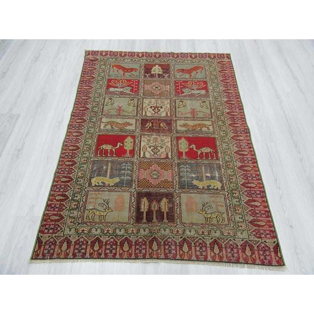 Vintage Decorative Turkish Rug - 4′ × 5′8″ - Image 3 of 6