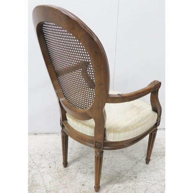 Louis XVI Style Caned Back Dining Chairs - Set of 6 - Image 7 of 8