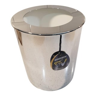 Windisch by Nameek's Round Metal Bathroom Luxury Waste Bin For Sale