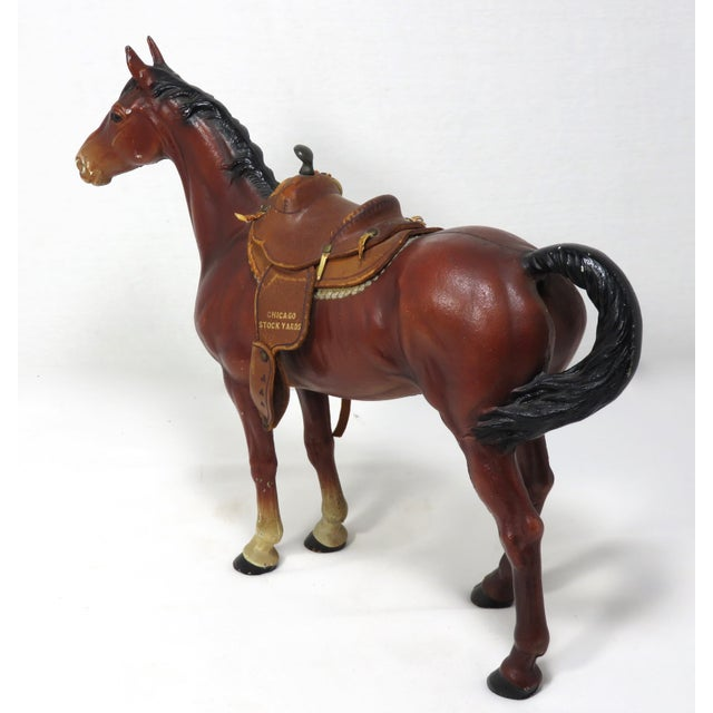 1930s 1930s Cast Iron Horse & Leather Saddle Doorstop For Sale - Image 5 of 12