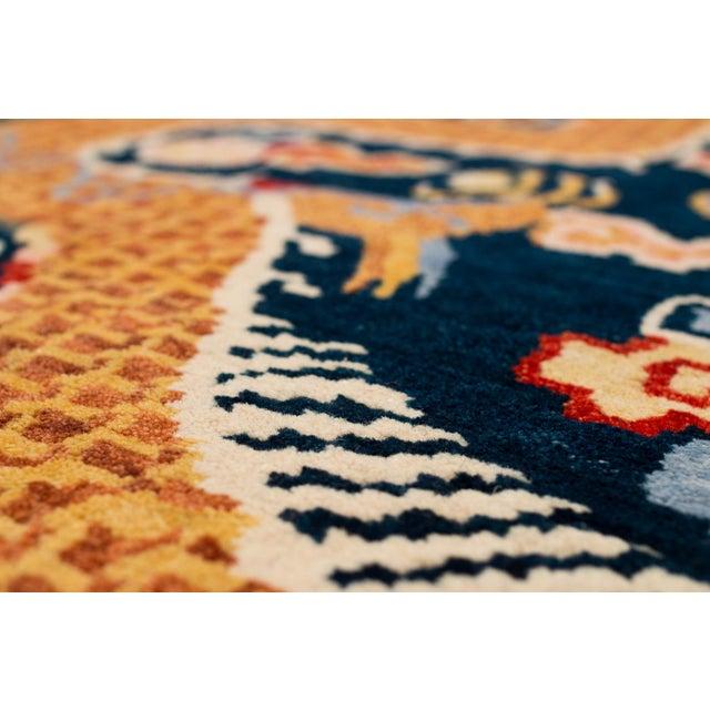 Asian Tibetan Dragon Area Rug-3′ × 6′ For Sale - Image 3 of 8