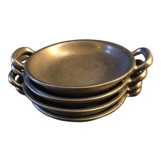 Vintage Wilton Armetale Round Au Gratin Dishs With Handles - Set of 4 For Sale