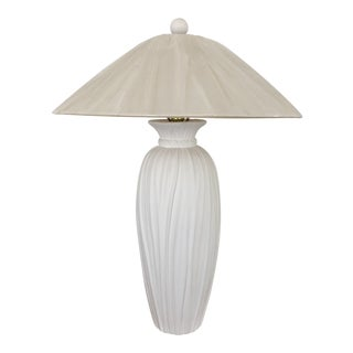 1980s Traditional John Dickinson Style Plaster Draped Lamp For Sale