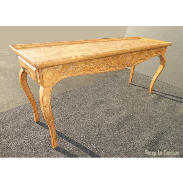 Vintage Rustic French Country Console Table For Sale - Image 4 of 11