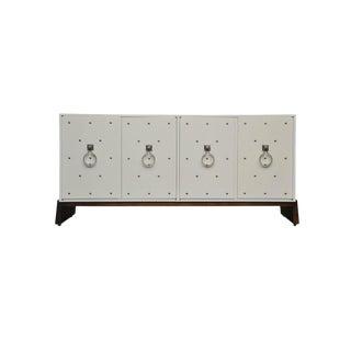Tommi Parzinger Nickel Studded Sideboard For Sale