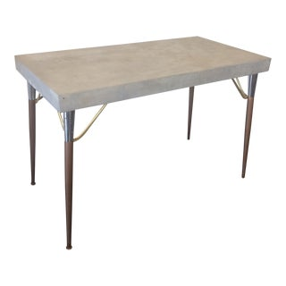 Concrete Over Wood Table