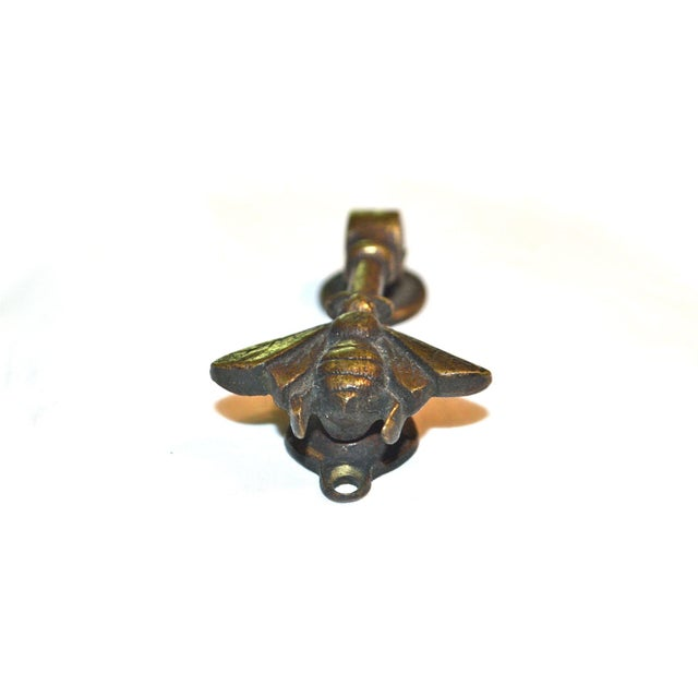 Antique Little Honey Bee Door Knocker For Sale - Image 6 of 9