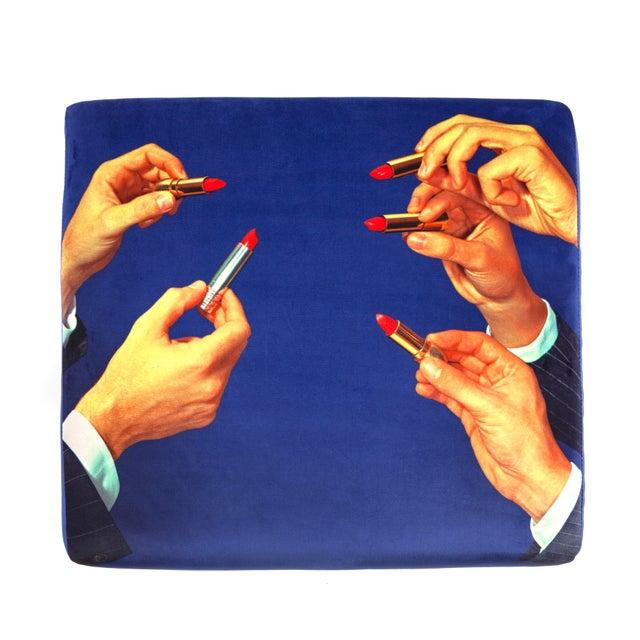 Contemporary Seletti, Lipsticks Ottoman, Blue, Toiletpaper, 2018 For Sale - Image 3 of 4