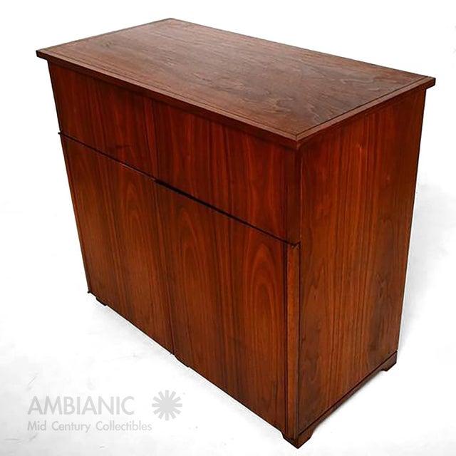 Mid-Century Modern Walnut Cabinet Desk For Sale In San Diego - Image 6 of 10