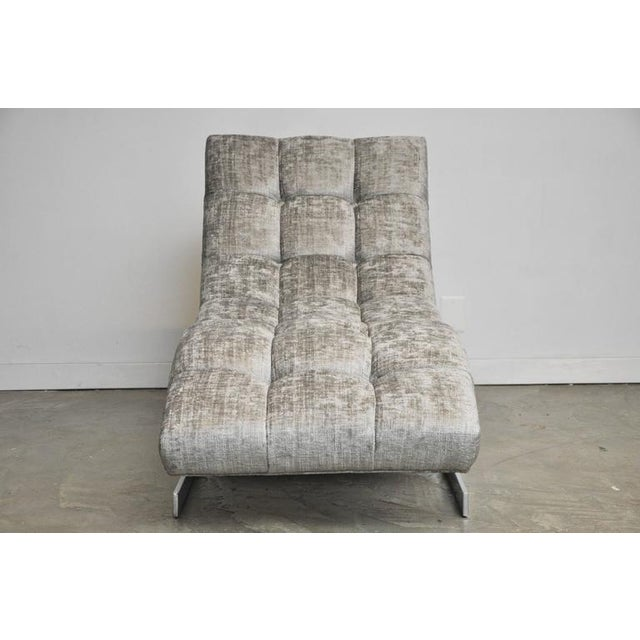 Milo Baughman Wave Chaise For Sale - Image 5 of 7