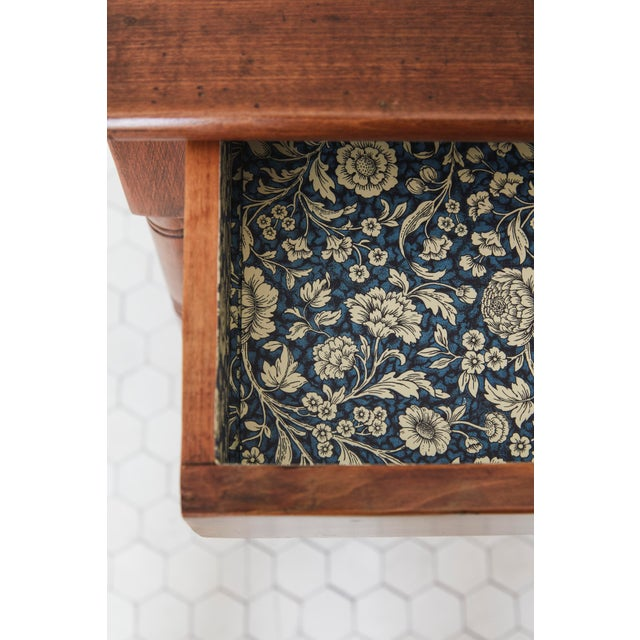 Fruitwood 19th Century Traditional Fruitwood Wash Table With Lined Drawer For Sale - Image 7 of 8