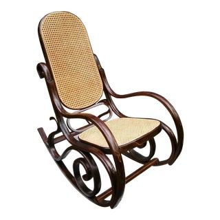 Thonet-Style Bentwood Rocking Chair in Amazing Condition