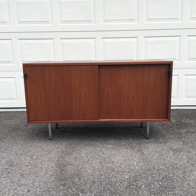 Animal Skin 1960s Mid-Century Modern Florence Knoll Credenza For Sale - Image 7 of 11