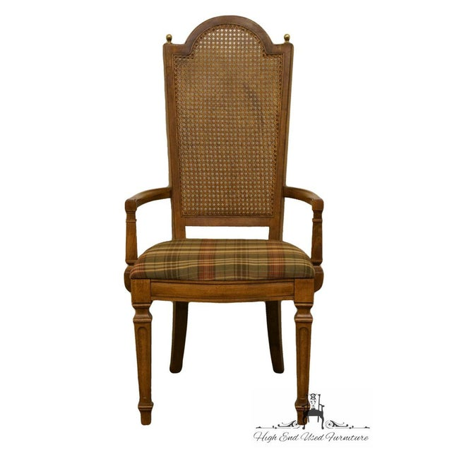 """44"""" High 21.5"""" Wide 23"""" Deep Seat: 18"""" High Arms: 24"""" High We specialize in High End Used Furniture that we consider to be..."""