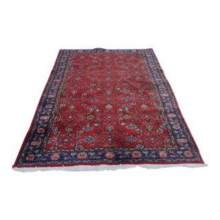 Vintage Anatolian Area Rug - 3′8″ × 7′