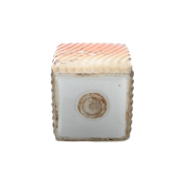 19th Century Painted Porcelain Inkwell Bottle For Sale - Image 9 of 9