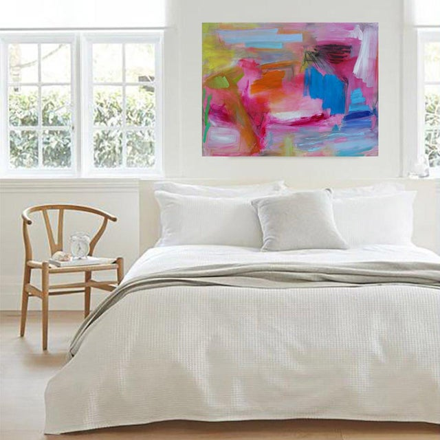 """2010s Large Abstract Oil Painting by Trixie Pitts """"Florida Feeling"""" For Sale - Image 5 of 10"""