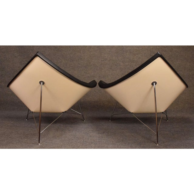 "Silver Vintage George Nelson for Vitra ""Coconut"" Chairs - a Pair For Sale - Image 8 of 13"