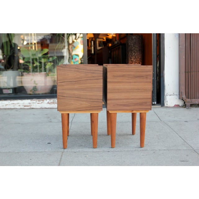 Mid-Century Modern Mid-Century Modern Walnut Night Stands - a Pair For Sale - Image 3 of 12