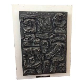 Mid-Century Modern Brutalist Wall Sculpture Tim Meier For Sale