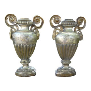 18th Century Neoclassical Style Porta Palmas or Urns - a Pair For Sale