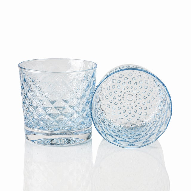 Mindala Short Glasses, Blues and Green - Set of 6 For Sale - Image 10 of 12