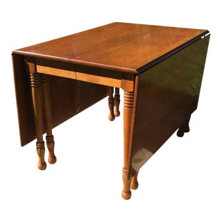 Vintage Solid Cherry Drop Leaf Table For Sale