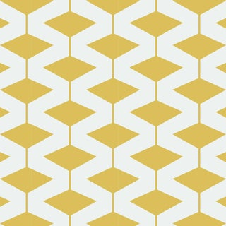Yellow Abacus Wallpaper Remnant by Mitchell Black For Sale